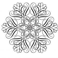Sello de caucho A6 Copo de nieve
