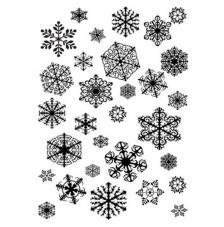 Sello de caucho A6 Copitos de nieve