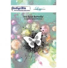 Rubber Stamp A6 Ink Splat Butterfly