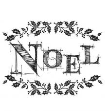 Rubber Stamp A7 Noel Dinkie