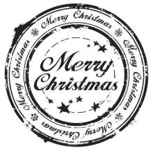 Rubber Stamp A6 Merry Christmas
