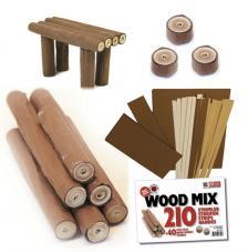 Kit quilling mezcla de maderas