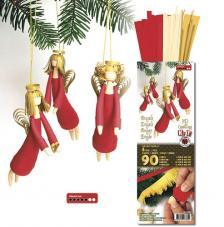 kit quilling Angel 3D rojo y dorado