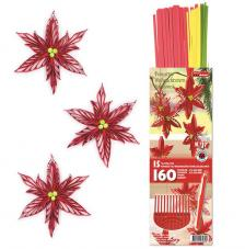 Kit quilling ponsetia, flor de nadal