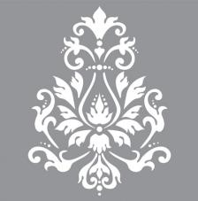 Stencil 30,5x30,5 cm brocade