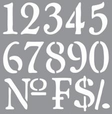 Stencil 30,5x30,5 cm numbers