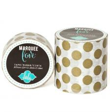 Masking Tape Marquee Love 2,2 cm. Roll 3,6 m. Gold Dots