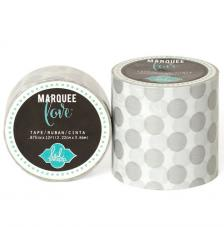 Masking Tape Marquee Love 2,2 cm. Rollo 3,6 m. Silber Dots