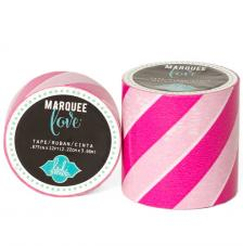 Masking Tape Marquee Love 2,2 cm. Roll 3,6 m. Pink Strip