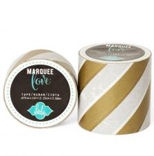 Masking Tape Marquee Love 2,2 cm. Roll 3,6 m. Gold Strip