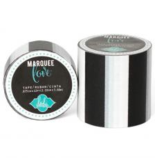 Masking Tape Marquee Love 2,2 cm. Roll 3,6 m. Black Strip