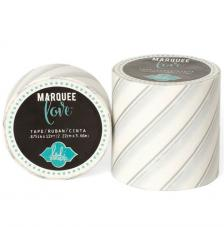 Masking Tape Marquee Love 2,2 cm. Rollo 3,6 m. Silber foil