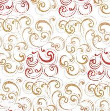 Tissu Nabucco 31 rollo 30cmx5m - rojo y dorado