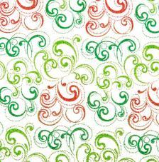 Tissu Nabucco 46 rollo 30cmx5m - rojo y verde