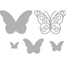 Troquel mariposas caprichosas