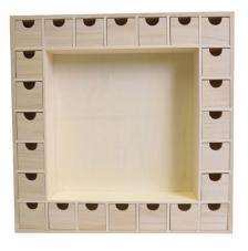 Calendario de adviento 39x39,5x6,5 cm. Marco