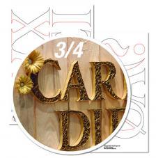 Plantilla quilling letras W hasta A 9,5 cm