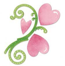 Troquel Sizzix Bigz. Flores y corazones