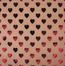 Paper Kraft 30,5x30,5cm. Corazones rojo