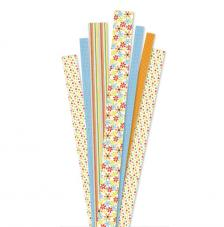 90 tiras papel quilling summer time 1, 1,5 y 2 cm. 80 gr
