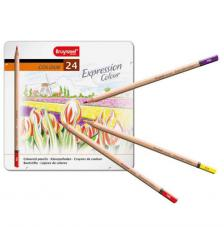 Estuche metal 24 lápices de colores Expression