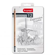 Estuche metal 12 lápices grafito Expression