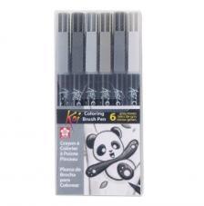 Estuche 6 Coloring Brush rotulador punta pincel