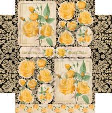 Yellow Roses. Figuras pre-cortadas A4