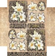 Peaceful Lilies. Figuras pre-cortadas A4