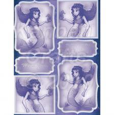 Sirenita. Figuras pre-cortadas A4