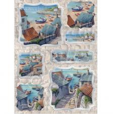 Paisaje Mar. Figuras pre-cortadas A4