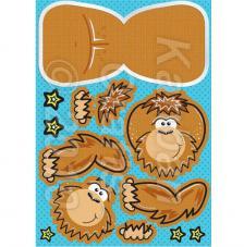Orangutan. Figuras pre-cortadas A4