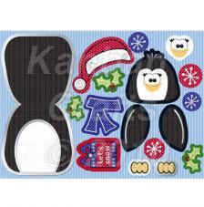 Pingüino. Figuras pre-cortadas A4
