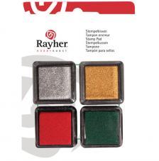 4 Mini tintas para sellos Christmas