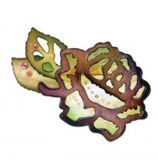 Troquel Sizzix Bigz. Rosa hojas