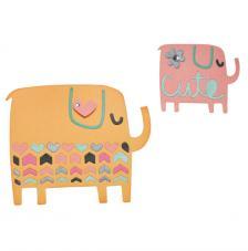 Sizzix Thinlits - Dos elefantes