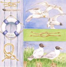 20 servilletas. Aves de mar