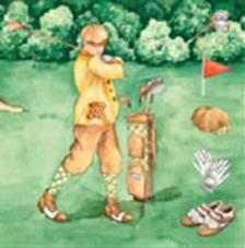 20 servilletas. Jugando a golf