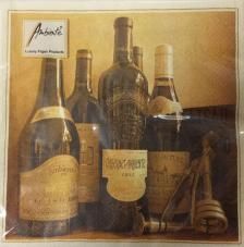 20 servilletas. Botellas vino