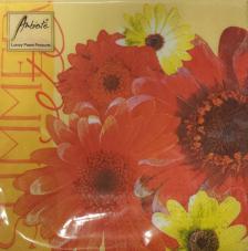 20 servilletas. Varias flores naranjas