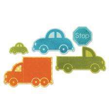 Troquel Framelit y sellos Sizzix.Coches y camiones
