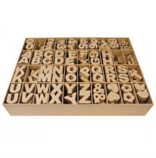 Letras, números y signos de cartón 4 x 1,5 cm