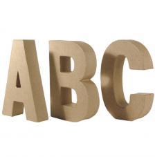 Letras de cartón 15 x 3 cm