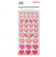 96 Stickers Hello Love. Corazones
