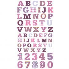Números y Letras adhesivas Purpura