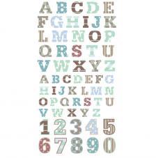Numeros y Letras adhesivas verdes