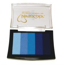 5 tintas Versacolor 4,7x7,5 cm. Azules