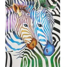 Zebras de colores. 2 medidas disponibles
