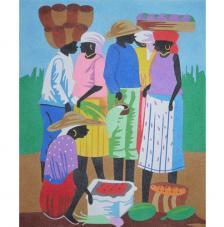 Ethnic market. 38x46 cm