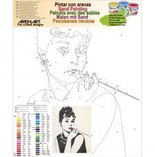 Audrey fumando 50x61 cm